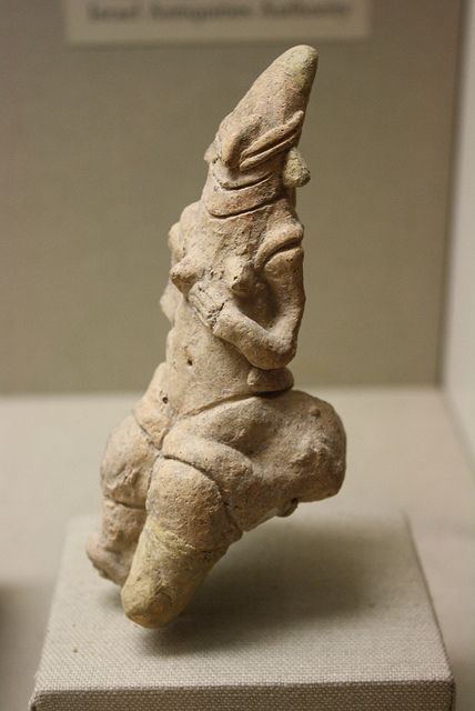 Clay, Neolithic period, Late 7th Millennium B.C.E., From Israel (excavated at Sha'ar Hagolan) On loan from the Israeli Antiquities Authority to the Metropolitan Museum of Art, New York.