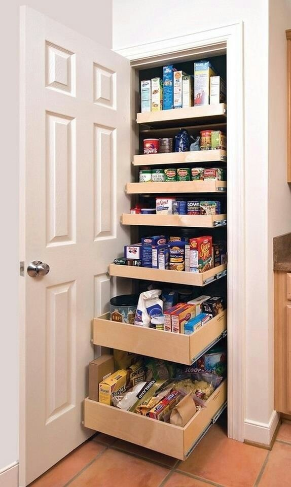 pantry storage solutions pinterest on kitchen organization no pantry id=30135