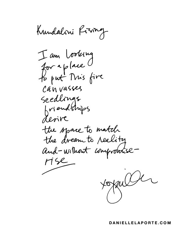 Kundalini rising (A poem for your fire)
