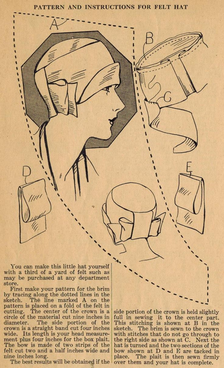 Home Sewings Tip from the 1920s - Sew Yourself a Felt Cloche