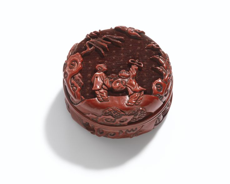 A CARVED CINNABAR LACQUER CIRCULAR BOX AND COVER<br>MING DYNASTY, 15TH / 16TH CENTURY | Lot | Sotheby's