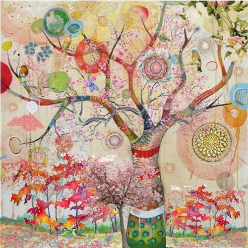 Whimsical and colorful.. love this!
