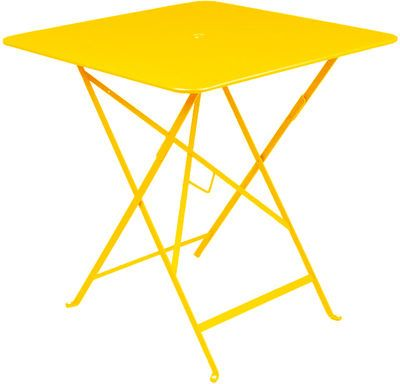 yellow foldaway table