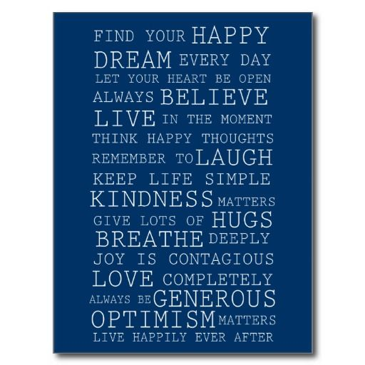 Positive Thoughts Post Cards
