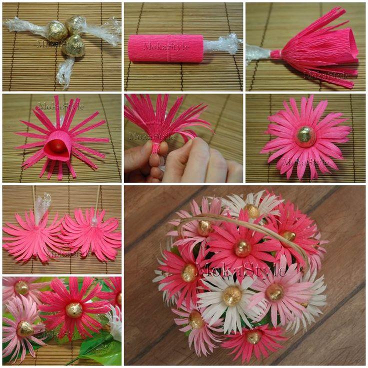 DIY Chocolate Gerbera Flower Bouquet
