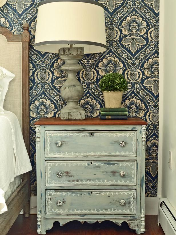 Give Plain Nightstands Rustic Charm With Milk Paint : Decorating : Home & Garden Television