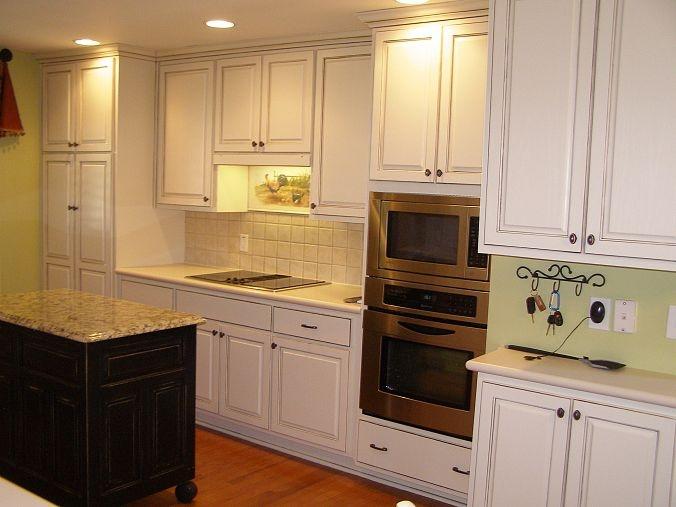 Kitchen Cabinet Makeover Linen Umbre
