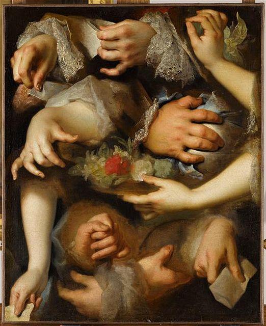 Study of hands    Nicolas de Largillière (1656-1746)