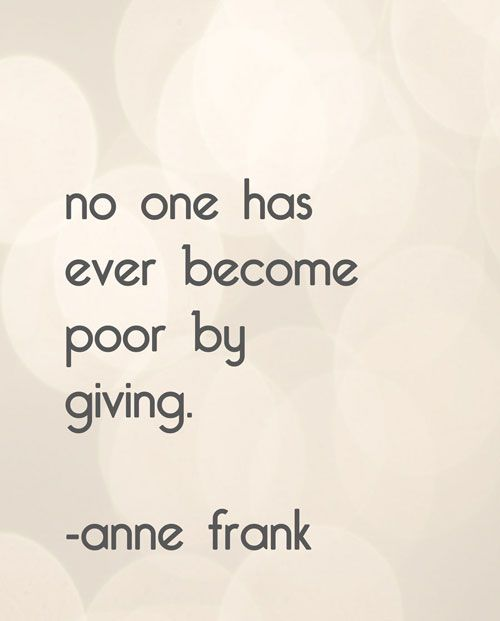 Giving...