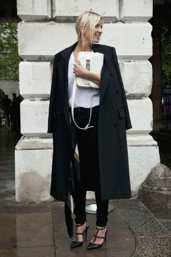 Valentino heels, Proenza bag.