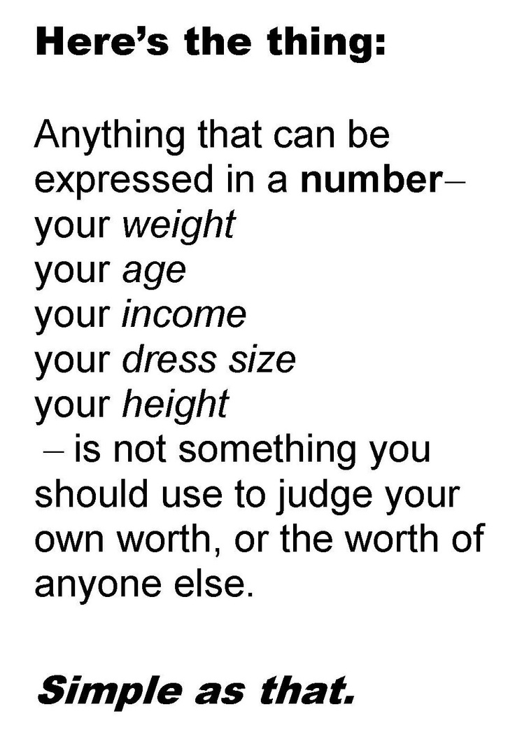 Image result for self worth defined by numbers