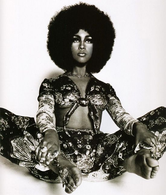 Marsha Hunt in Ossie Clark