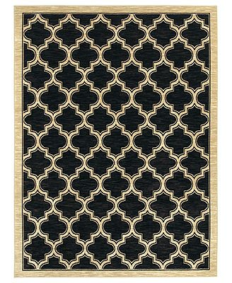 """Shaw Living Area Rug, American Abstracts 01500 Milazzo Black 7'9\"""" x 10'3\"""""""
