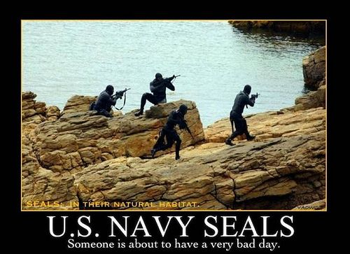 U.S. Navy Seals ~ someone is about to have a very bad day...