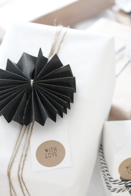 Pretty paper rosettes.