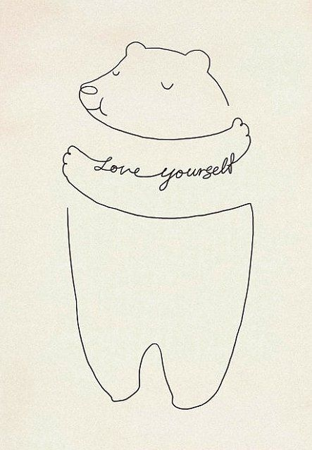 Love Yourself print by Lim Heng Swee (I had to source this image myself before I repinned it. Remember, folks -- DON'T REPIN WITHOUT A PROPER SOURCE!)