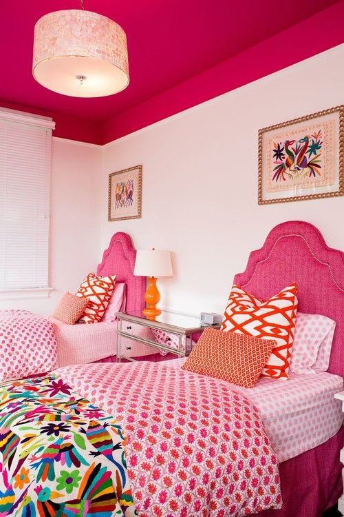 This guest room would put a smile on anyone's face.