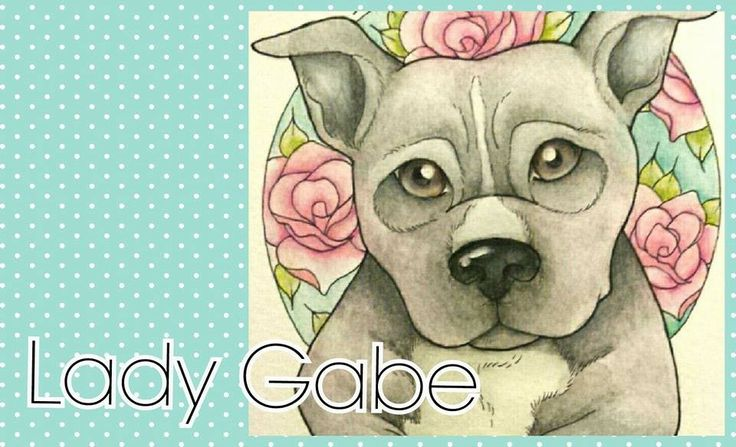 Staffy in the Roses - #NotaBully #StaffordshireBullTerrier #Watercolour by Lady Gabe