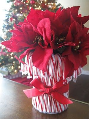 DiY-candycane flower arrangment