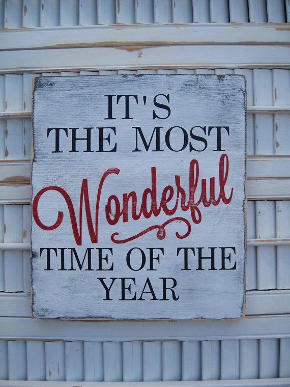 It's The Most Wonderful Time Of The Year Christmas by wordwillow, $23.00