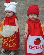 French Fries and Ketchup Homemade Costume