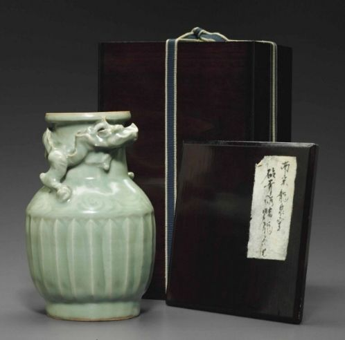 A Longquan celadon 'Dragon' jar, Southern Song Dynasty (1127-1279)