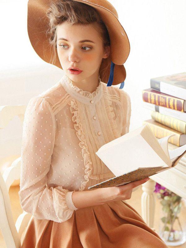 janet girl chiffon blouse