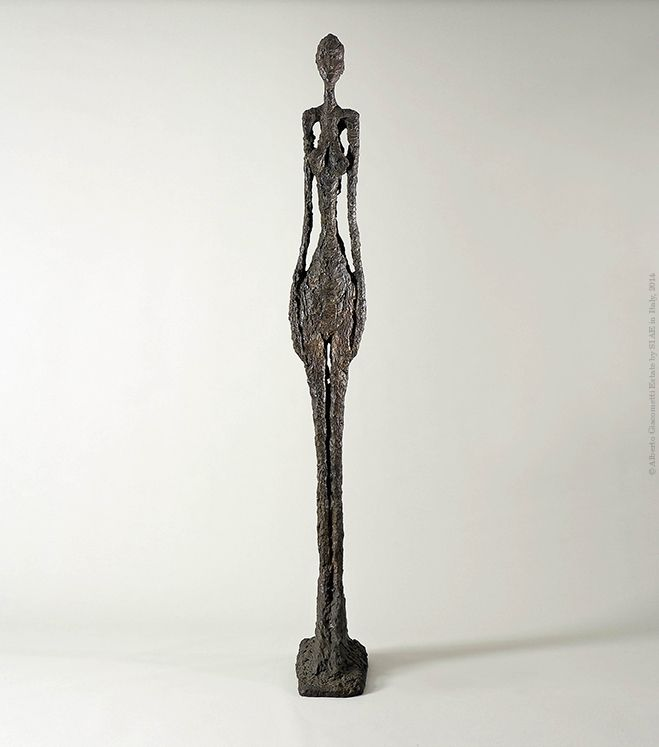 Alberto Giacometti  Grande woman IV  1960-1961 Bronze  270 x 31.5 x 56.5 cm  Collection Fondation Giacometti, Paris  © Alberto Giacometti Estate by SIAE in Italy, 2014