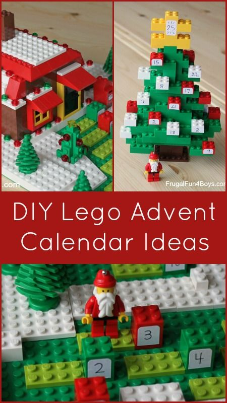 Ideas for building a Lego Advent Calendar - The gingerbread house is my favorite!