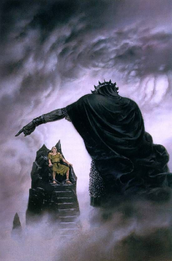 Ted Nasmith: Morgoth punishes Hurin