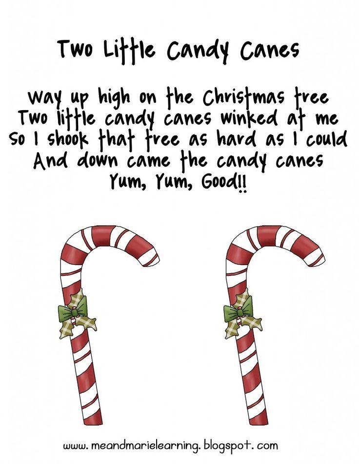 Candy Cane Poem Preschool Just B Cause