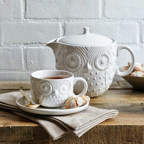 Found this and had to pin it somewhere. Lol. I think I'm in love #owl teapot love