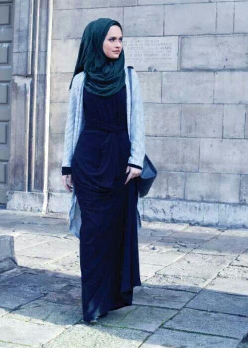 hijab style and layering