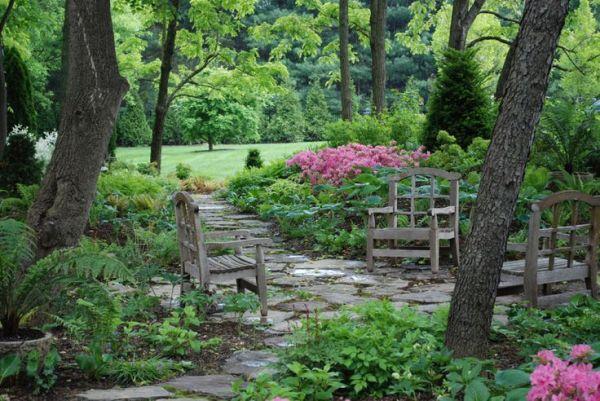 shade garden path ideas woodland garden path | Gardening & Outdoors | Pinterest