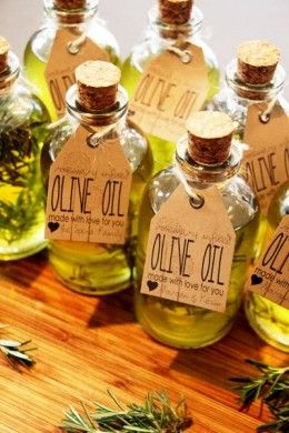 Homemade Flavored Olive Oils for Mothers Day