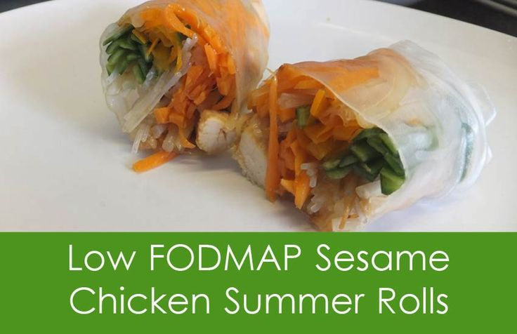 Low FODMAP Sesame Chicken Summer Rolls