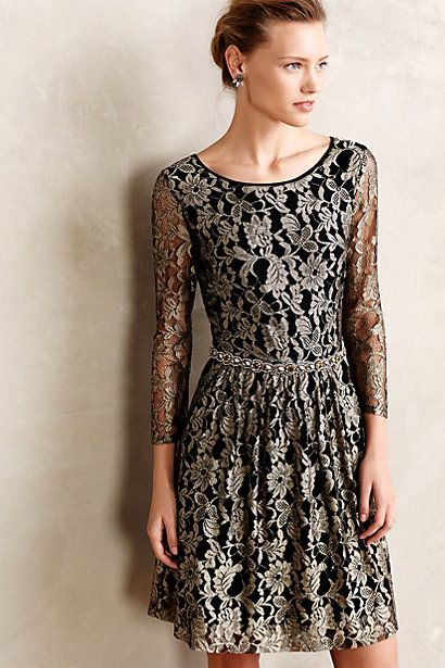 Shimmered Lacefall Dress #anthropologie #anthrofave