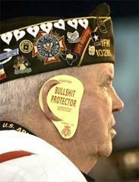 Veteran with Ear Protectors