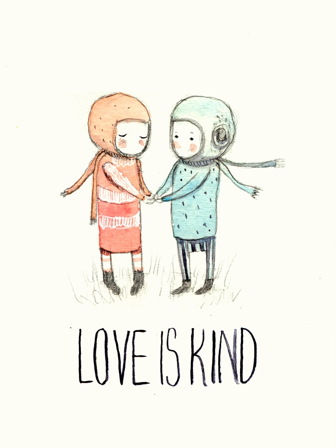 love is kind illustration. Paola Zakimi