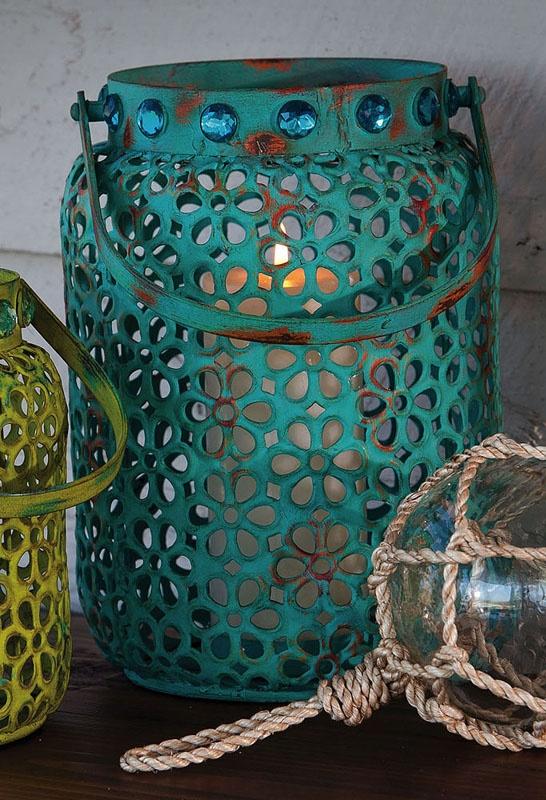 Blue Metal lantern