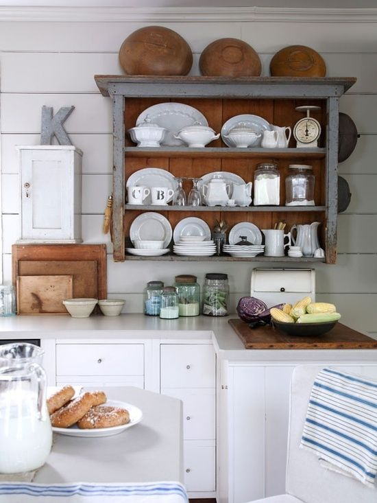farmhouse kitchen with open shelving rustic farmhouse kitchens d on farmhouse kitchen open shelves id=71942