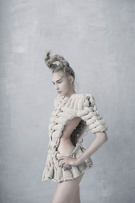 Sandra Backlund Woven Knit Skeletal Top (Last Breath Bruises Collection)