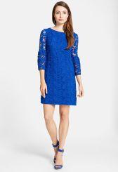 Cynthia Steffe 'Cora' Bell Sleeve Lace Shift Dress