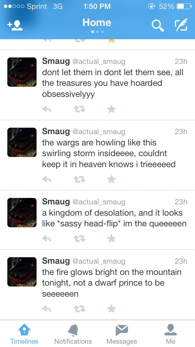 Smaug tweets, Frozen crossover. Didn't know I needed this... AHAHAHAHA!!!!!!!!