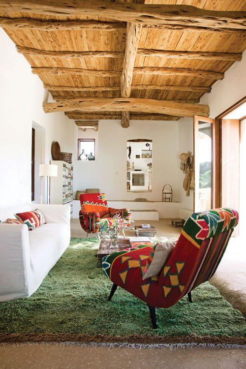 Casa de Chez Nani Marquina en Ibiza.  #Esmadeco.