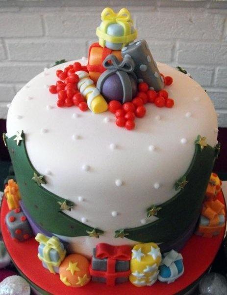 Christmas cake idea. Nice