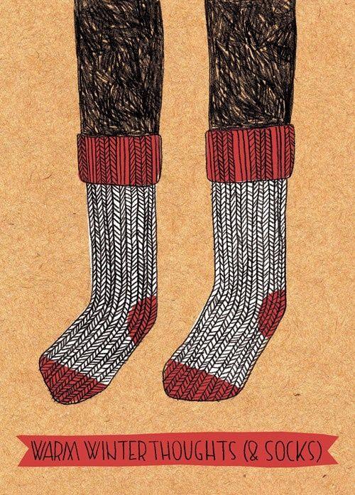 Winter socks are so much better than summer socks.