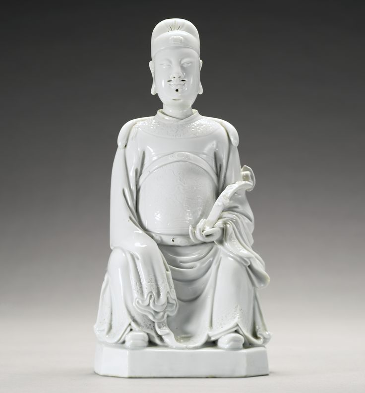 A Dehua figure of Wenchang, Qing dynasty, 18th century