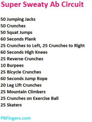 Super Sweaty Ab Circuit Workout