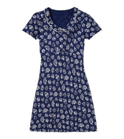 Teacups Jersey Dress with Loop Detail Collar